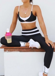 Fashion Bodycon Color Block Yoga Leggings