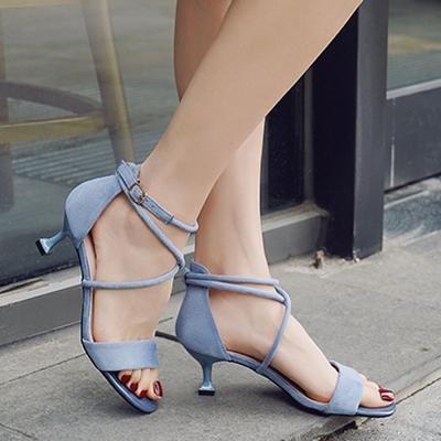 Open Toe Lace up Heels STYLESIMO.com