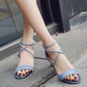 Open Toe Lace up Heels