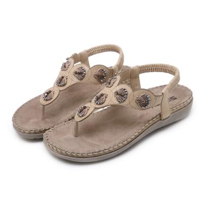 2bce82c1d409 Fashion Summer Bohemia Beach Thong Flat Sandals With Beading - STYLESIMO.com