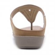 Khaki Bohemia Summer Beach Thong Flat Sandals With Crystal