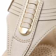 Fashion Apricot Bohemia Summer Beach Thong Flat Sandals