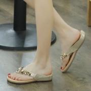 34d13aea14f29 ... Fashion Bohemia Summer Beach Thong Flat Sandals With String Bead ...