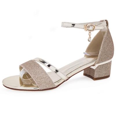 baa6595408f Fashion Casual Low Square Heel Cover Heel Round Toe Women Sandals -  STYLESIMO.com
