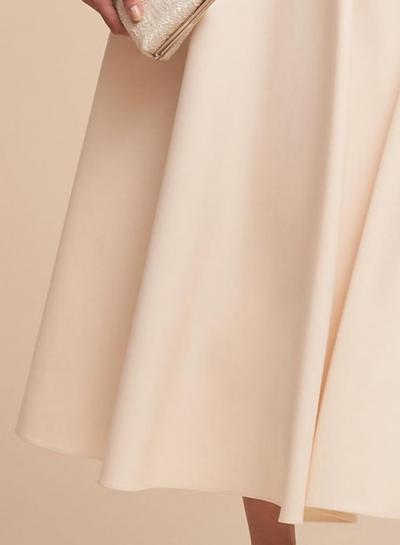c3ff9c9bbf59 Fashion Sexy Solid Half Sleeve V Neck Midi Dress With Pockets -  STYLESIMO.com