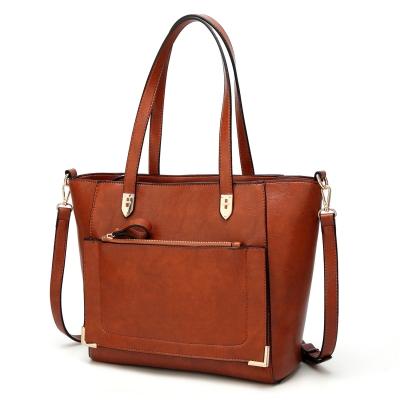 Solid Vintage Handle Satchel Handbag Shoulder Bag Cross-body Bag