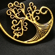 Fashion Vintage Alloy Circle Round Life Tree Pattern Earrings
