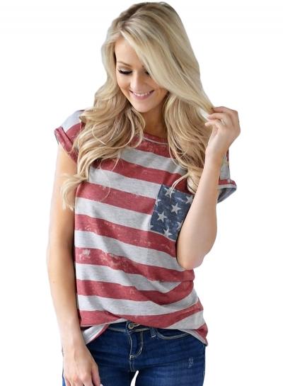 The United States Flag Print T-shirt