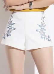 Summer Fashion Slim Floral High Waist Micro Bell-Bottom Shorts