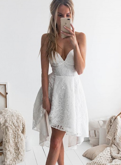 Fashion Sexy Solid Lace Spaghetti Strap High Waist Swing Midi Dress
