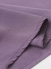 Summer Casual Short Sleeve V Neck Front Buttons Pockets High Waist Dress