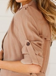 Khaki Autumn Thin Coat Windbreaker