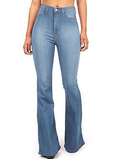 Classic High Waist Slim Fit Boot Cut Denim Flare Jeans