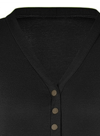 0d0ab6dc6ab8 Black Open-front Sweater-blazer - STYLESIMO.com
