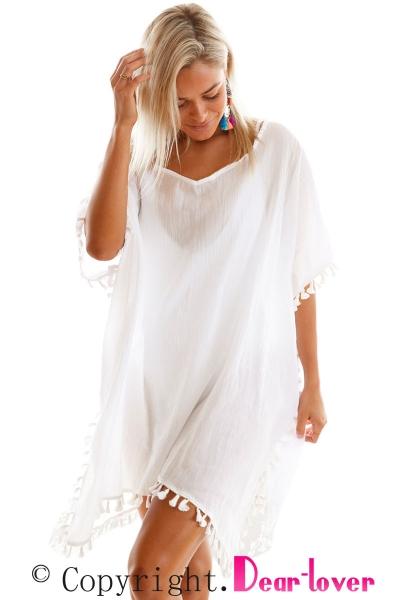 white-pom-pom-tassel-hem-gauze-cover-up