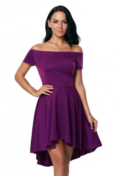 Purple All The Rage Skater Dress