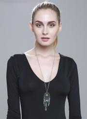 Women's Boho Turquoise Dreamcatcher Pendant Necklace