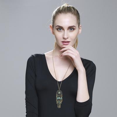 Women's Boho Turquoise Dreamcatcher Pendant Necklace stylesimo.com