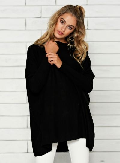 Women's Solid Batwing Sleeve Loose Tee STYLESIMO.com