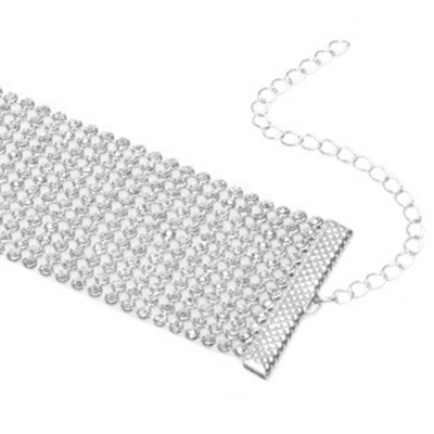 Women's Rhinestone Party Choker Necklace stylesimo.com