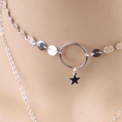 Women's Lariat Sequins Pendant Long Chain Choker Necklace stylesimo.com