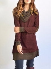 Heaps Collar Patchwork Pullover Tee