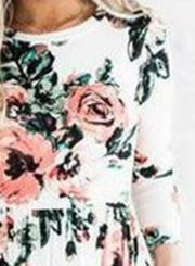 Floral Long Sleeve Maxi Dress