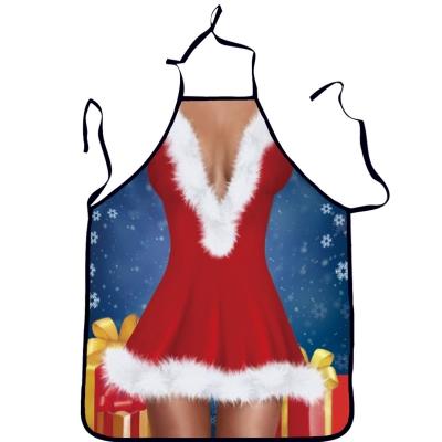 Fashion Sexy Halter Neck Christmas Backless Apron stylesimo.com