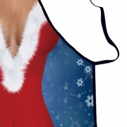 Fashion Sexy Halter Neck Christmas Backless Apron