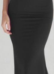 Fashion V Neck Sleeveless Backless Maxi Prom Dress