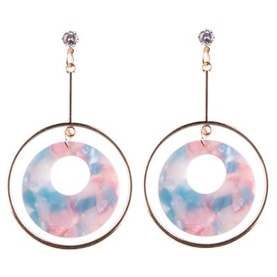 Fashion Round Circle Shape Colorful Earrings
