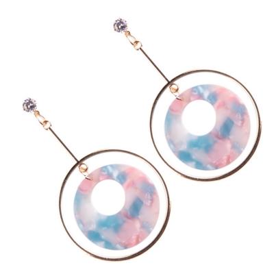 Fashion Round Circle Shape Colorful Earrings stylesimo.com
