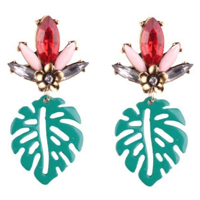 Elegant Leaf Shape Hollow Out Earrings