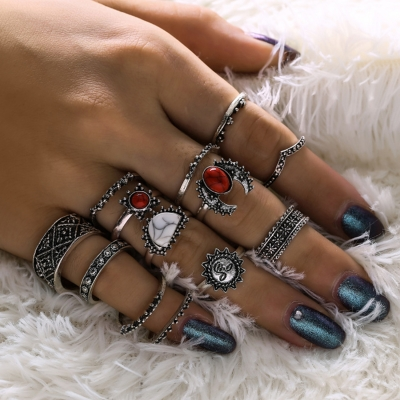 Fashion Fourteen Pieces of Combination Set Rings