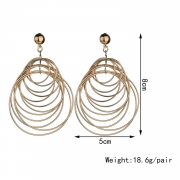 Elagnt Round Circle Exaggerated Fashion Earrings