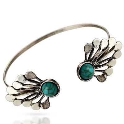 Fashion Alloy Faux Diamonds Decoration Open Bracelet