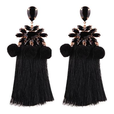 Elegant Tassels Decoration Krystal Party Earrings