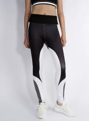 Fashion Color Block Yoga Sports Leggings