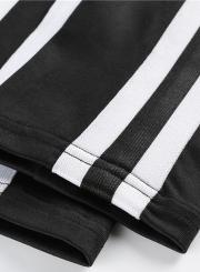 Women's Fashion One Piece Striped Elastic Skinny Sports Set Sportswear