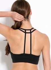 Women's Fashion Wireless Back T Strap Yoga Bra Sports Bra