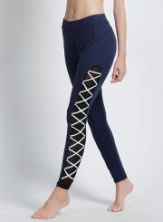 Fashion Cross Bandage Elastic Sports Leggings