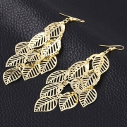 Fashion Alloy Leaves Shape Casual Earrings