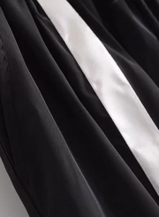 Drawstring Waist Color Block Sports Pants