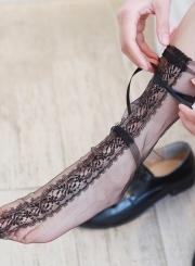 Fashion Mesh Bow Lace Socks