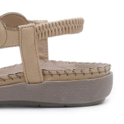 Fashion Summer Bohemia Beach Thong Flat Sandals With Beading stylesimo.com