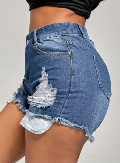 Fashion Washed and Brushed Denim Shorts for Women stylesimo.com