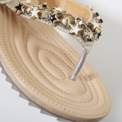 Fashion Bohemia Summer Beach Thong Flat Sandals With String Bead stylesimo.com