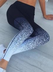 Fashion High Waist Gradient Skinny Leggings