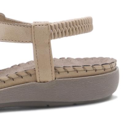 Fashion Bohemia Summer Beach Thong Flat Sandals With Crystal stylesimo.com