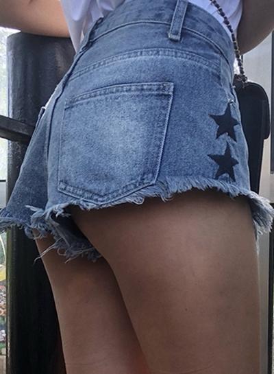 Casual Retro Wash High Waist Zipper Fly Wide Leg Denim Shorts With Pockets stylesimo.com